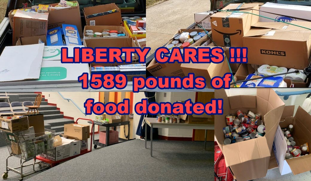 Picture of the food and perishables Liberty donated